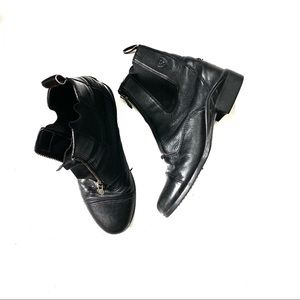 Ariat Black Leather Ankle Boot Paddock Heritage